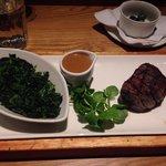 Filet steak & spinach