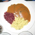 Saurebraten with Speatzle  and red cabbage