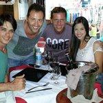 Cristian o Dono do restaurante e José o proprietário da pousada Aquarela. Carisma e Simpatia pra