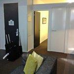entry door and door to bedroom