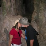 Romantic moment in the high grotto