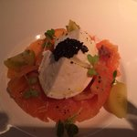 Salmon, caviar, buffalo mozzarella. Excellent!