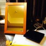 Foldable vanity mirror.