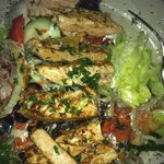 Power Salad with Grilled salmon