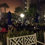 Outdoor dining at Palm Court