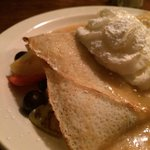 Fruit Crepe with Maple Sauce
