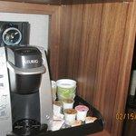 Krupps machine, not shown fridge and micro