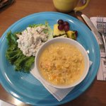 my seafood chowder and chicken salad w/o bread