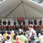 Drumming display at Hatsume fair