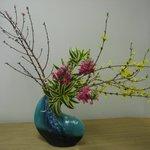 Traditional Ikebana (Japanese flower arranging)