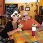 enjoying cucumber margarita's before lunch