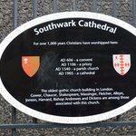 Southwark Cathedral - sign