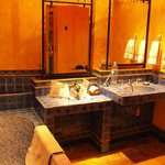 bathroom of stained glass room