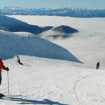 Lesley skiing at Treble cone