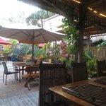 Courtyard/seating area of Rhumb Lines