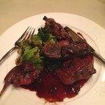 Sorry half eaten - delicious venison.