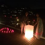Destination Dining - releasing sky lantern