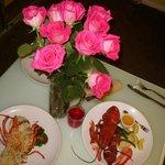 room service lobster dinner