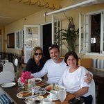 Johanne(hotel owner), and my husband and I
