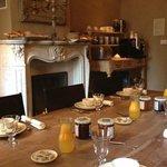 de ontbijtkamer: een zeer prettig begin van de dag