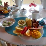 fresh local fruit platter at every breakfast