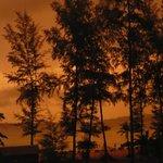 Couché de soleil après une forte pluie