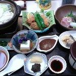 日式餐廳的晚餐