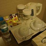 Generous variety of coffee/tea facilities