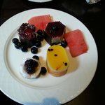A selection from afternoon tea in the Club Lounge