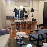 Wohnzimmer und Küche - perfekt designt