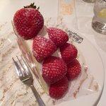 Huge strawberry cake