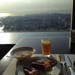 Breakfast and views from the 70th floor