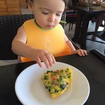 Even my 15month old enjoyed the frittata