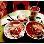Taco Dinner w-pintos & rice, Taco Ala Carte, Salad, Lg. Soda