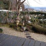 Private garden next to balcony