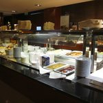 Breakfast buffet was not crowded on 18th Feb at 8am