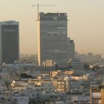 "Tel-Aviv view from room window. Cloes building ""Kolbo Shalom"""