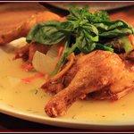 Antonio's signature chicken, mmm.