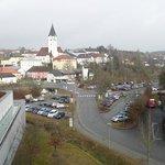 Blick vom Balkon zum Ortszentrum von Bad Zell