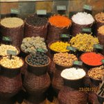 Spices at the entrance of Restaurant