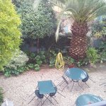 garden as seen from window. when sunny breakfast served there