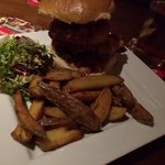 Pulled pork topped burger. Amazing!