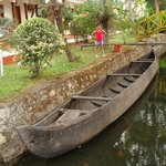 A nature's bliss.....Country boat in the garden