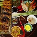 Sate lilit & Grill pork ribs