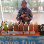 8am Jamu lady ready to serve you complimentary jamu...or pay IDR 20,000 to enjoy extra strong ja