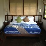 Nice bed in beachfront bungalow