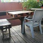 table on bottom outside deck