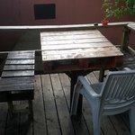 Bottom deck seating