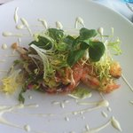 Menu of the Day Starter, Tempura Crab Salad