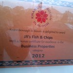 Business Properties Certificate ofExcellence 2012